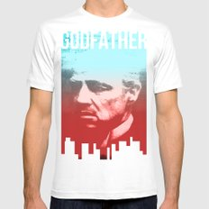 GODFATHER - Do I have your Loyalty? White Mens Fitted Tee MEDIUM