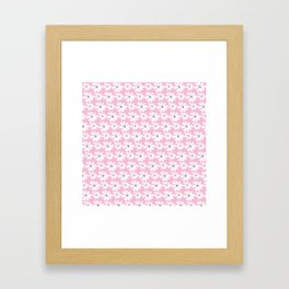 Daisies In The Summer Breeze - Pink Grey White Framed Art Print