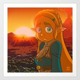 Zelda: Breath of the Wild Art Print