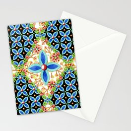 Elizabethan Folkloric Blossoms Stationery Cards