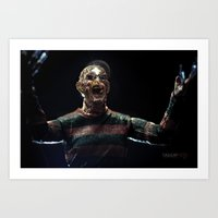 freddy krueger Art Prints featuring Freddy Krueger by TJAguilar Photos