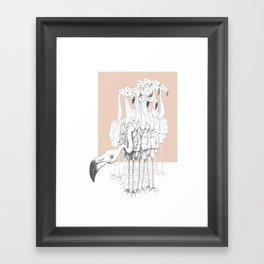 Weird & Wonderful: Flamingo Boys Framed Art Print