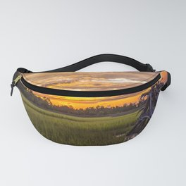 Lowcountry - Salt Marsh at Sunset in South Carolina Fanny Pack