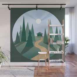 circle landscape Wall Mural
