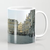 brussels Mugs featuring Brussels by Emily Brady
