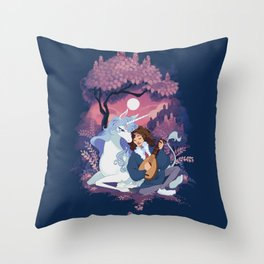 Last Unicorn + Dan Avidan Throw Pillow