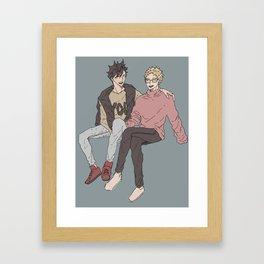 Haikyuu!! - Kurotsuki 10 Framed Art Print