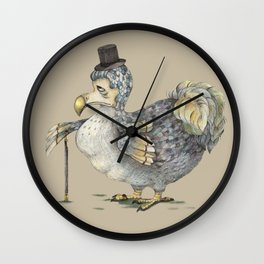 Grumpy Dodo_light Wall Clock