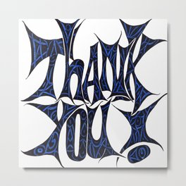 Artistic Thank You Metal Print