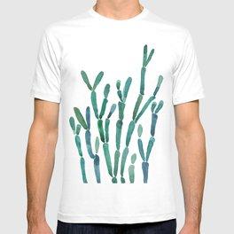 Succulent rhipsalis watercolor T-shirt