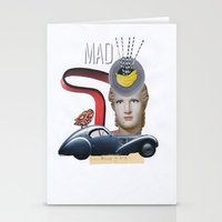 mad Stationery Cards featuring mad by fromdelphine