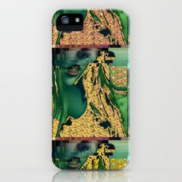 Glitched Self iPhone Case