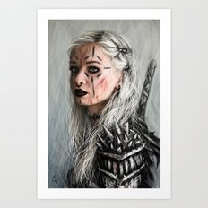 Alone but Free: Medieval Portrait of a Goth Girl Art Print