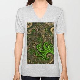 Fantasy World II, Abstract Fractal Art Unisex V-Neck