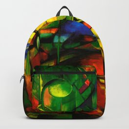Deers in Wood by Franz Marc Backpack