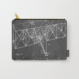 Wright Brother'S Machine Patent - Airplane Art - Black Chalkboard Carry-All Pouch