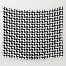 Monochrome Black & White Houndstooth Wall Tapestry