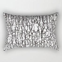 Chess Pattern II WHITE Rectangular Pillow