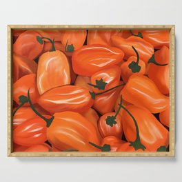 Habanero Peppers Serving Tray