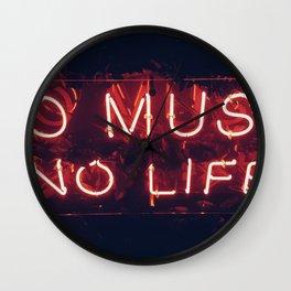 No Music No life Wall Clock