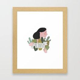 Cactivism Framed Art Print