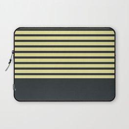 Navy stripes on yellow Laptop Sleeve