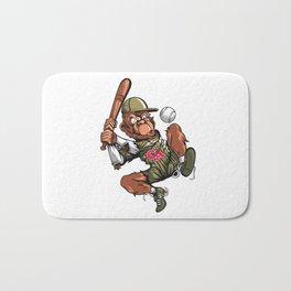 Baseball Monkey - Teak Bath Mat