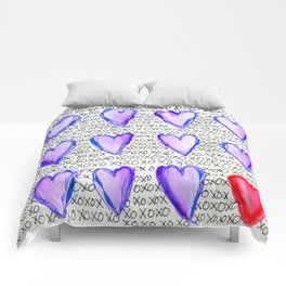 Hugs and Kisses - Xs & Os - Pattern Comforters