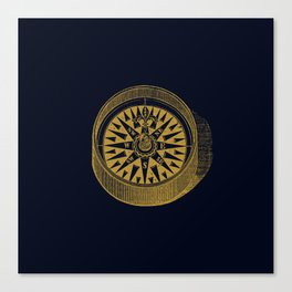 The golden compass I- maritime print with gold ornament Canvas Print