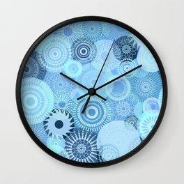 Kooky Kaleidoscope Pretty Blues Wall Clock