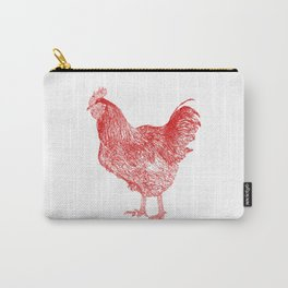 red rooster drawing, red Carry-All Pouch