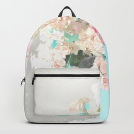 Shabby Chic Hydrangea Flowers Pink White Aqua Blue Backpack