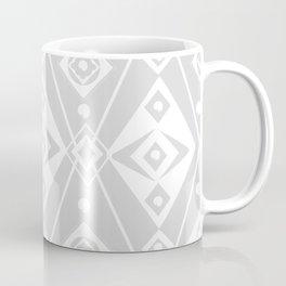 Gray and White Diamonds and Circles Egg Coffee Mug