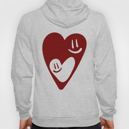 TWO MESMERIZED LOVING HEART FACES - Valentines Day Hoody