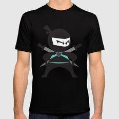 Ninja (with heart) MEDIUM Mens Fitted Tee Black