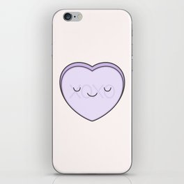 XOXO Candy Heart - Lilac iPhone Skin