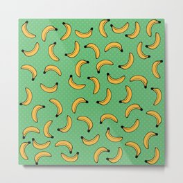 Pop Art Banana pattern Metal Print