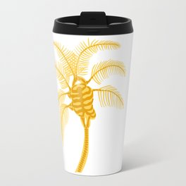 Skeleton Palm Tree White Travel Mug