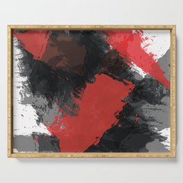 Red and Black Paint Splash Serving Tray