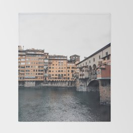 italian Architecture in Florence Throw Blanket