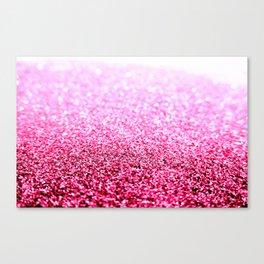 Pink Glitter Sparkle Canvas Print
