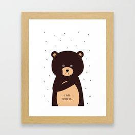 bored bear Framed Art Print