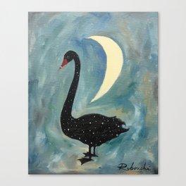 Starlight Swan Canvas Print