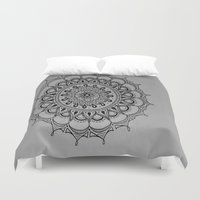 silent Duvet Covers featuring Silent by Katie Duker