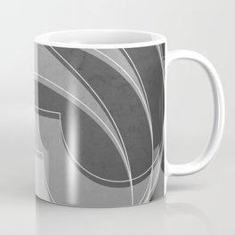 Spacial Orbiting Spiral in Charcoal Gray Coffee Mug