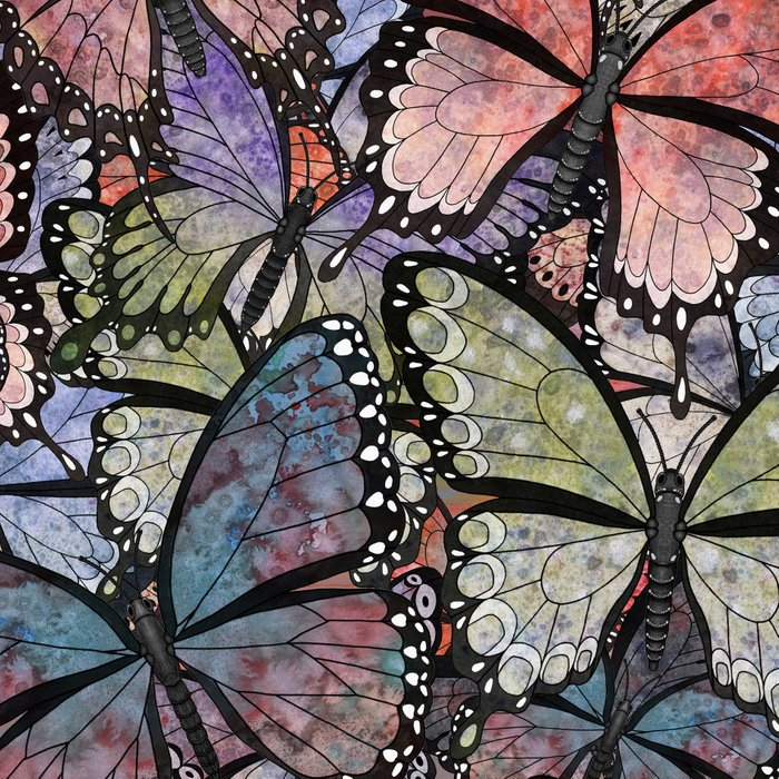 butterflies galore grunge version Leggings