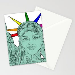 Madonna as The Statue of Liberty! Stationery Cards