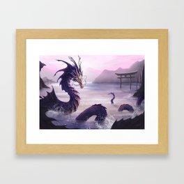 Temple Guard Framed Art Print