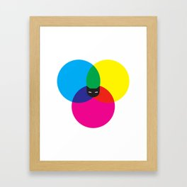 CMYKAT Framed Art Print