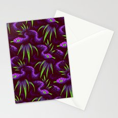 Mr Snake in the Rainforest - Purple Green Stationery Cards